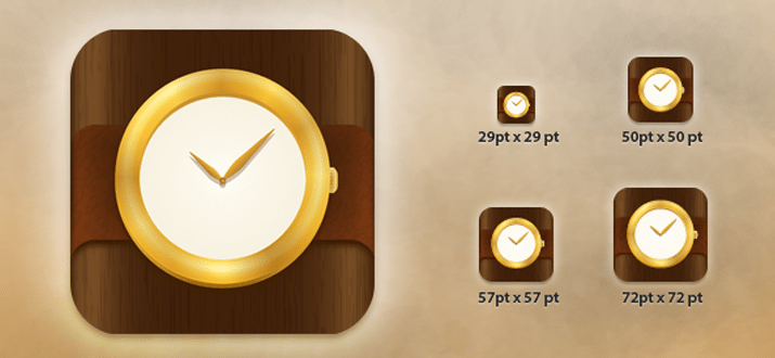 freebie psd wristwatch app icon mobile retina display