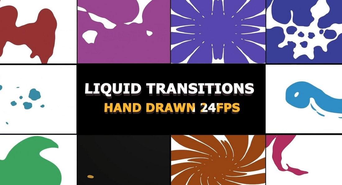 2D FX Liquid Transitions for DaVinci Resolve