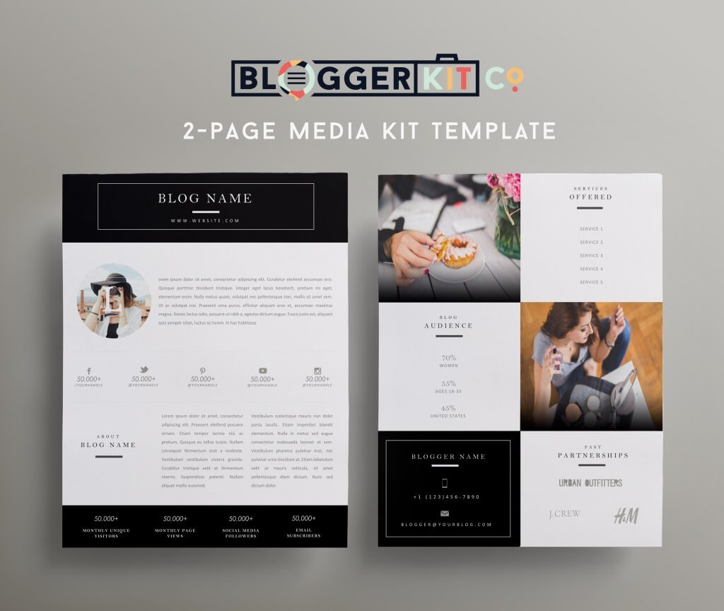80 modern stationery templates design shack for Press kit design