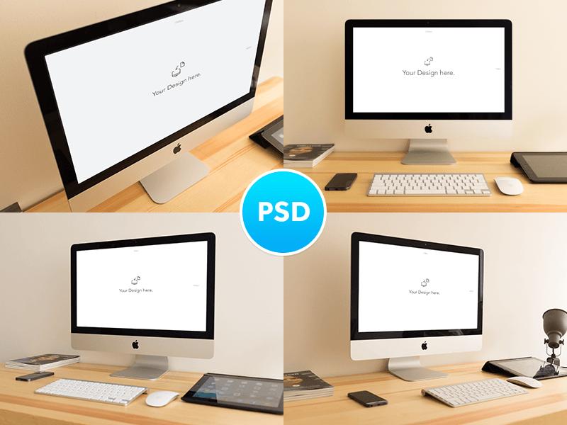 3-3 40+ iMac Mockup PSDs, Photos & Vectors design tips