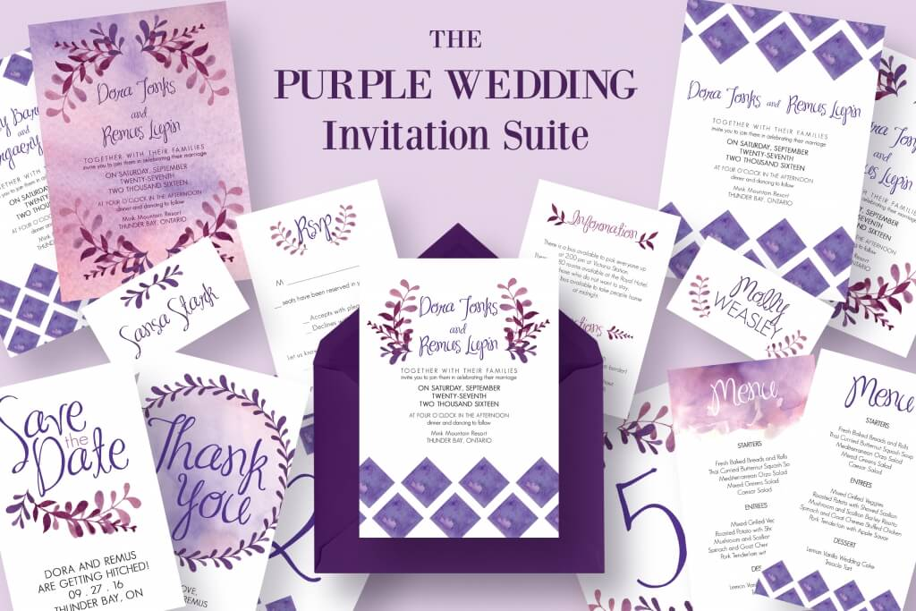 Gorgeous Wedding Invitation Templates Design Shack - Wedding invitation templates: editable wedding invitation templates
