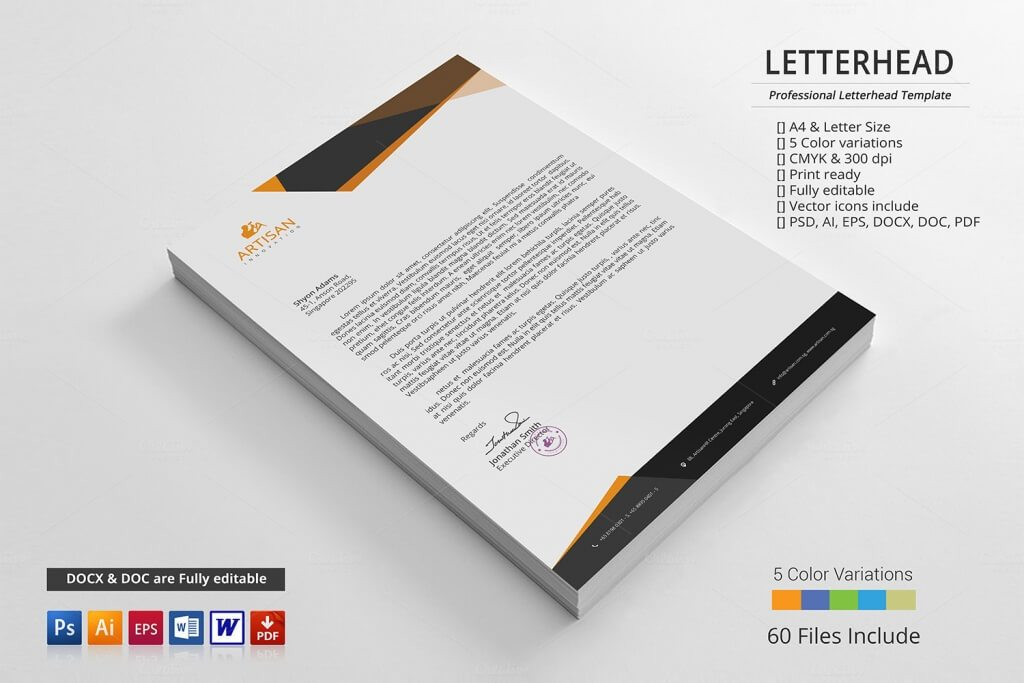 80 modern stationery templates design shack a simple unique letterhead for all kind of business and personal purpose usages this file is easy to edit modify and customize able spiritdancerdesigns Images