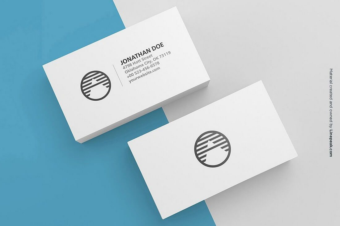 70 corporate creative business card mockups design shack 3 blank business cards mockup magicingreecefo Choice Image