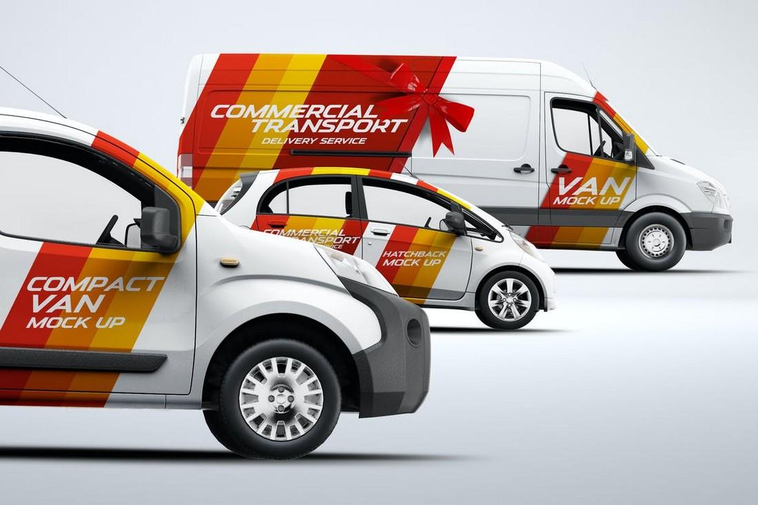 3 Car & Van Mockup Templates