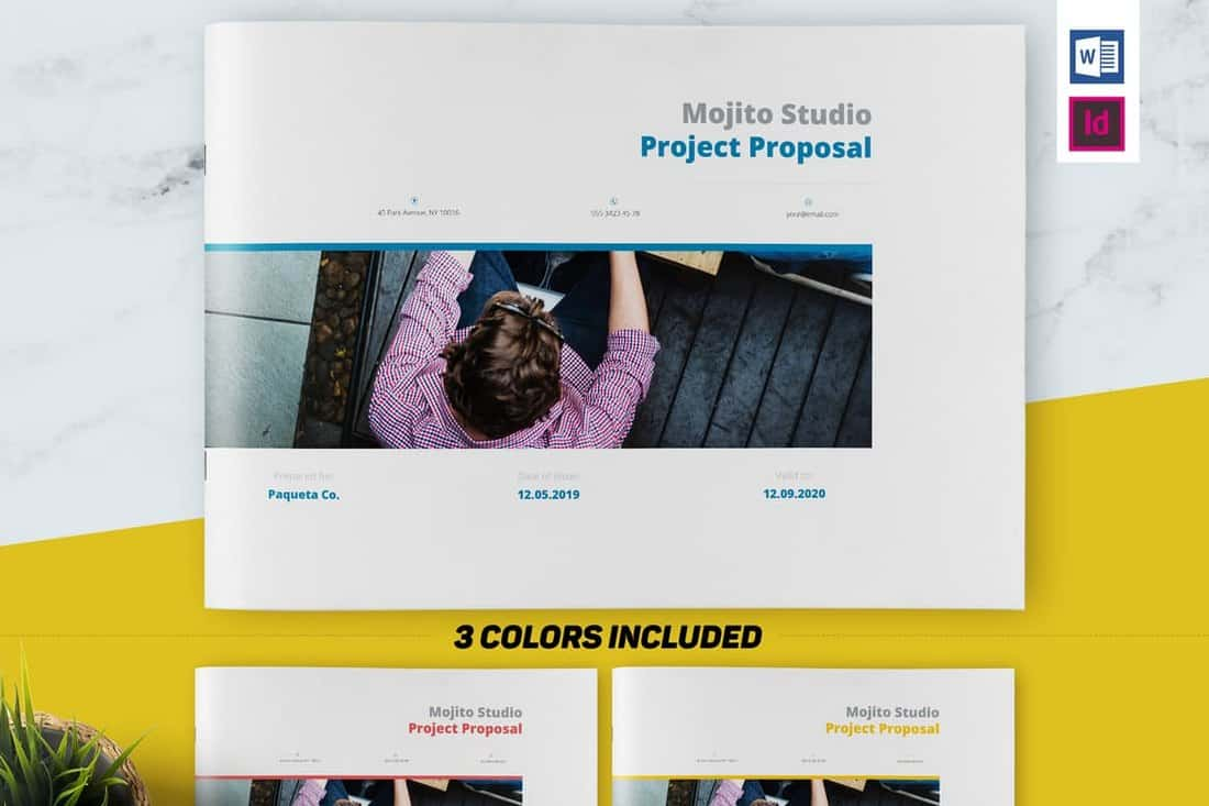 3 Color Project Proposal Brochure