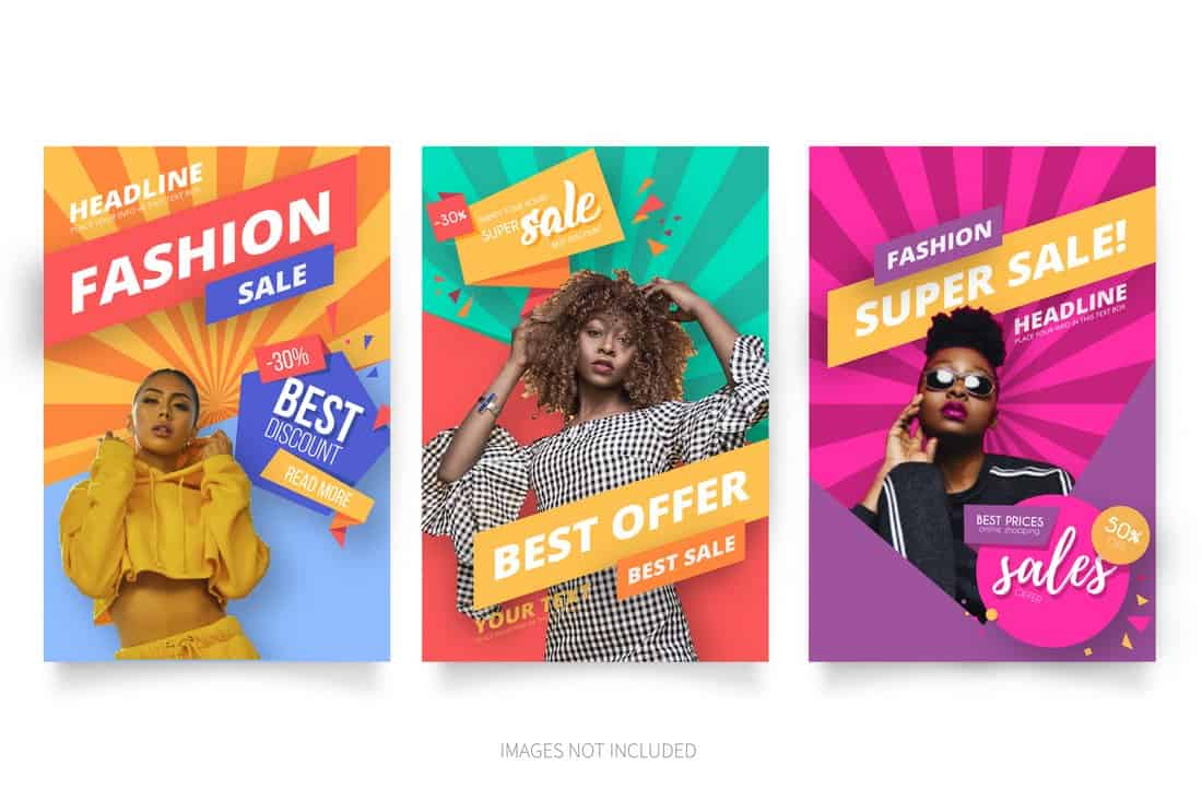 3 Fashion Sale Free Flyer Templates