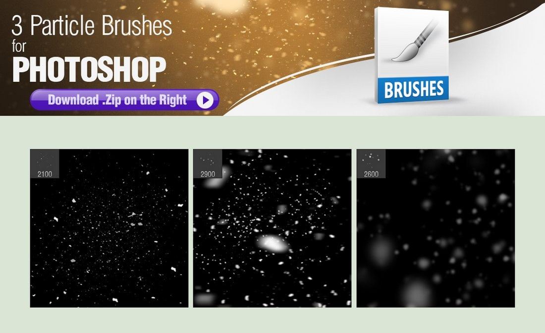 3 Free Particle Brushes for Photoshop