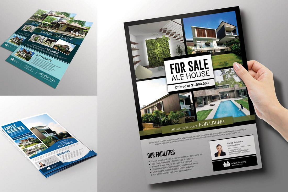 3-In-1-Real-Estate-Flyer-Templates 30+ Best Real Estate Flyer Templates design tips  Inspiration|flyer|property|real estate