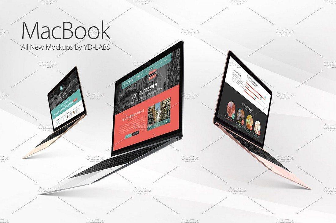 3-MacBook-Mockups 100+ MacBook Mockup Templates (PSD & Vector) design tips