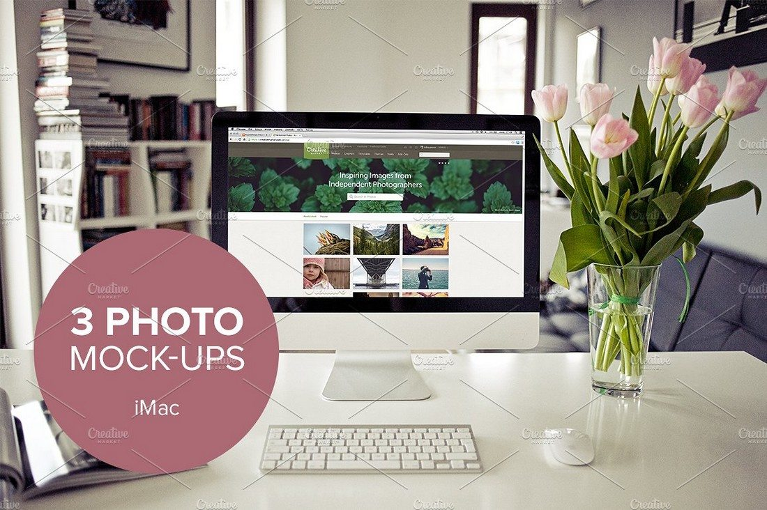 3-Real-Photo-iMac-mockups 40+ iMac Mockup PSDs, Photos & Vectors design tips