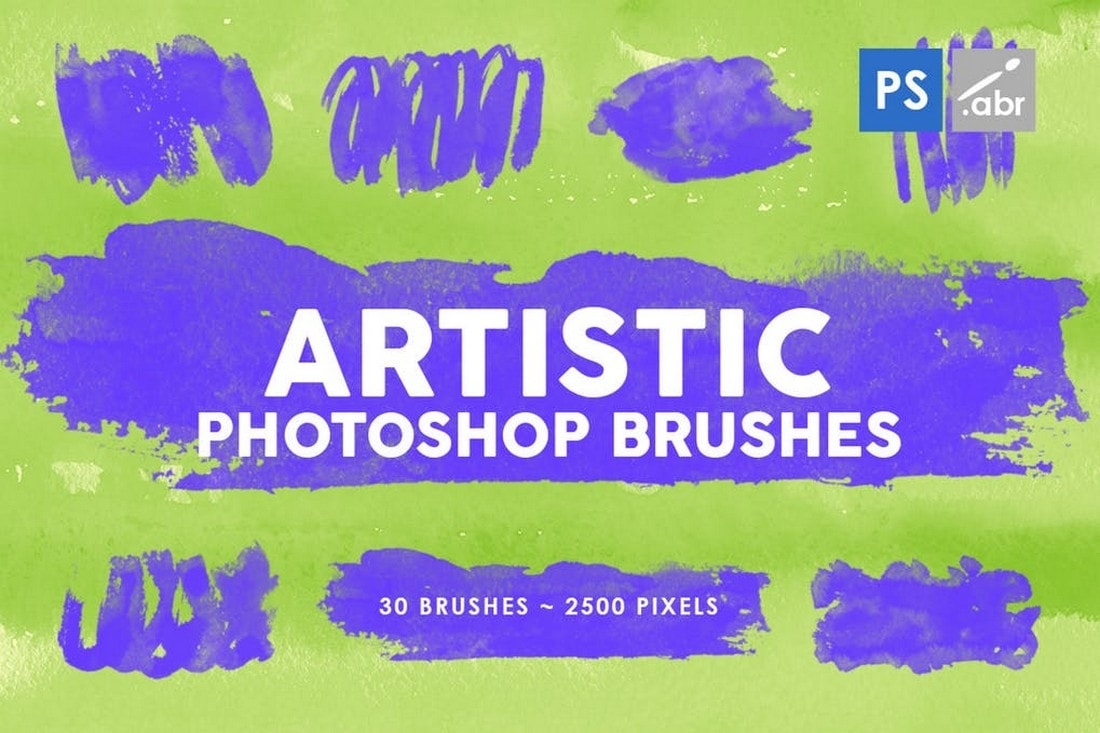 30 Artistic Photoshop Stamp Brushes