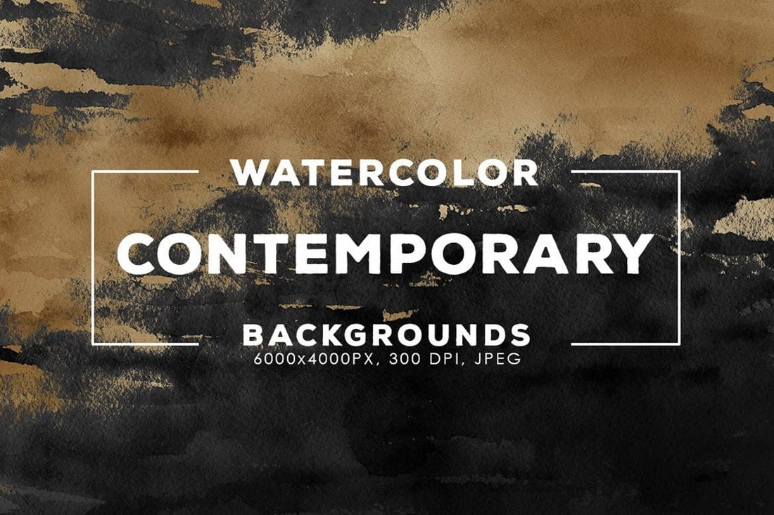 30 Contemporary Watercolor Backgrounds
