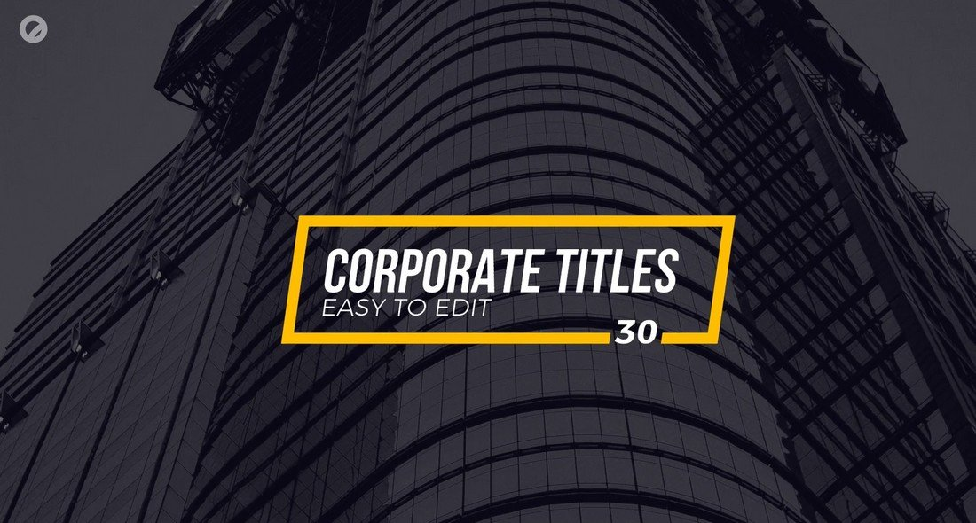 30 Corporate Titles - Final Cut Pro X Templates