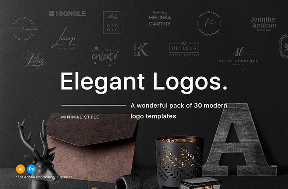 30 Elegant Free Logo Templates