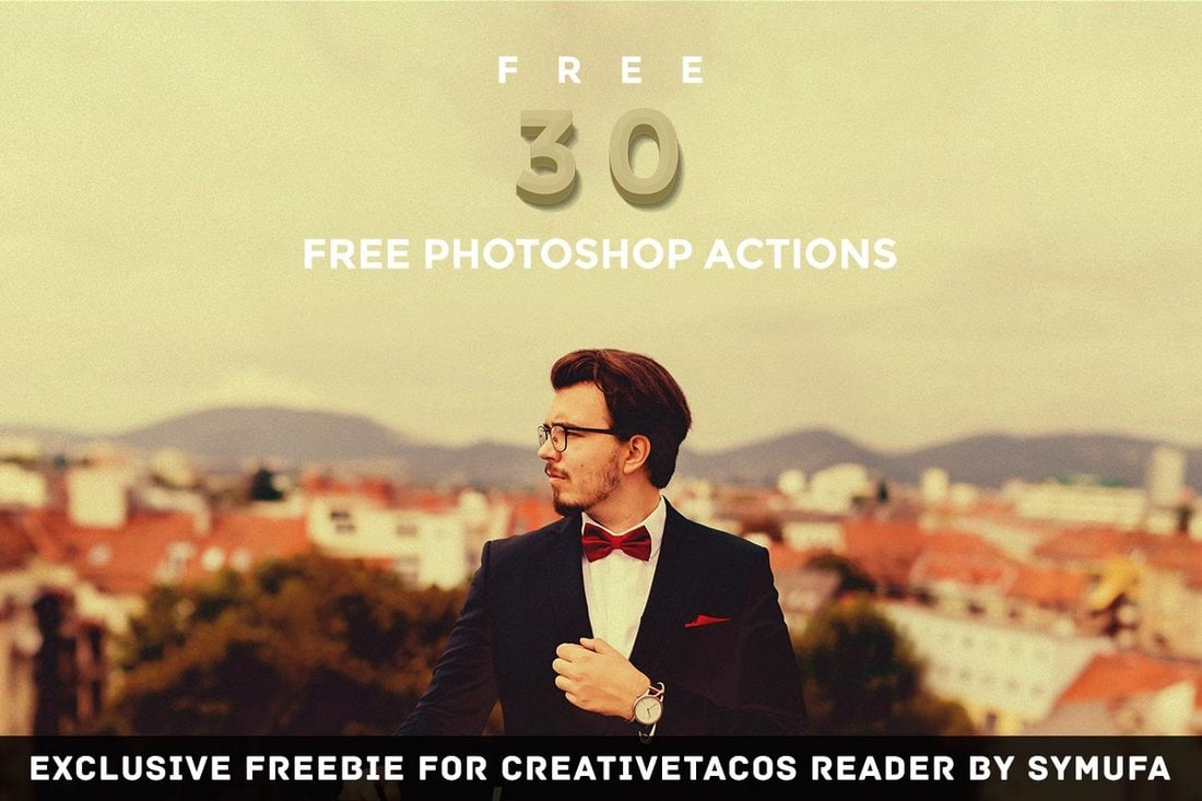 30 Free Vintage Photoshop Actions Bundle