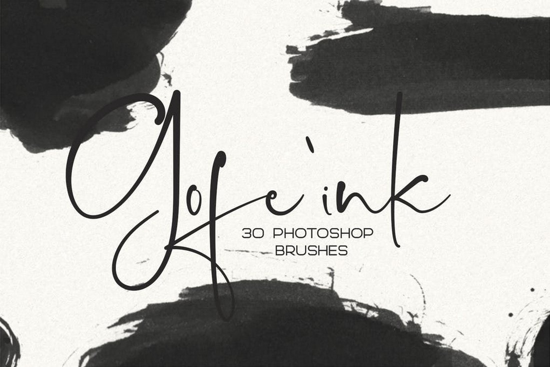 30 Gofe Ink Photoshop Brushes