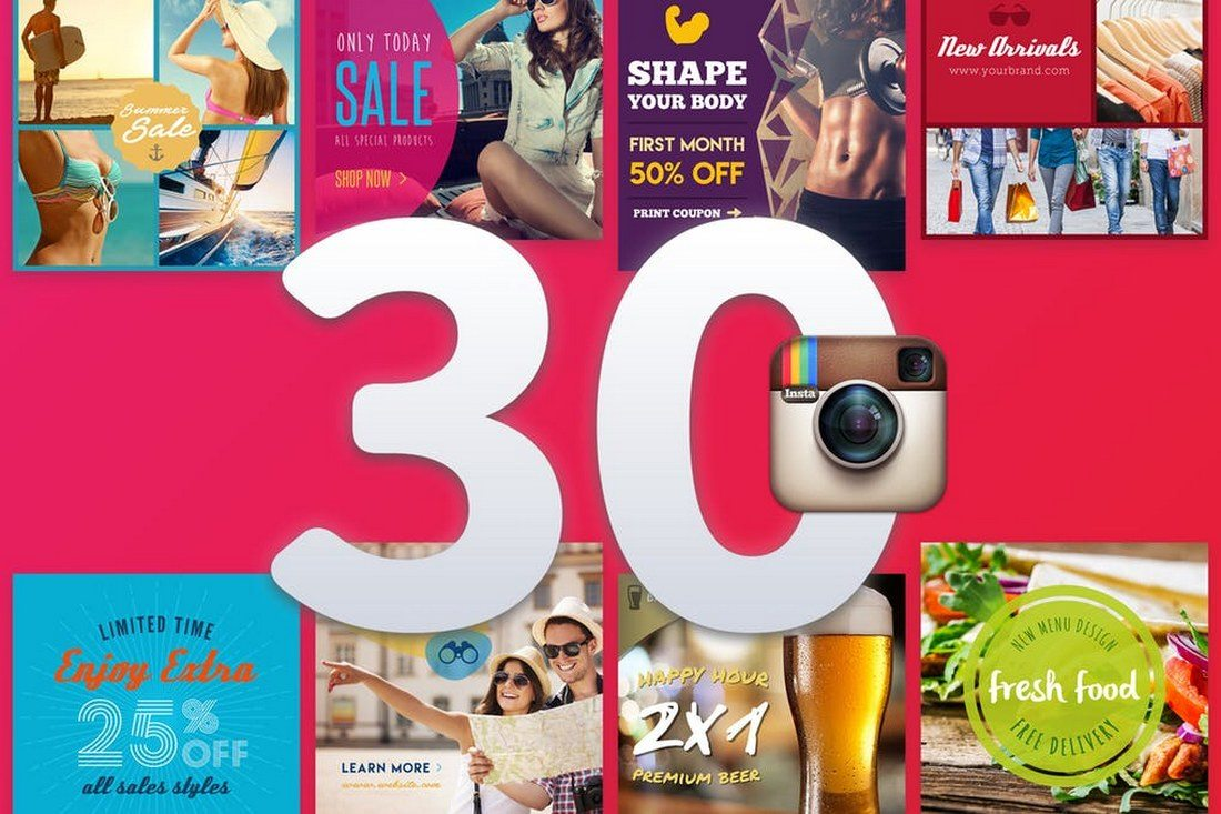 30-Instagram-Banners 30+ Best Instagram Templates & Banners design tips