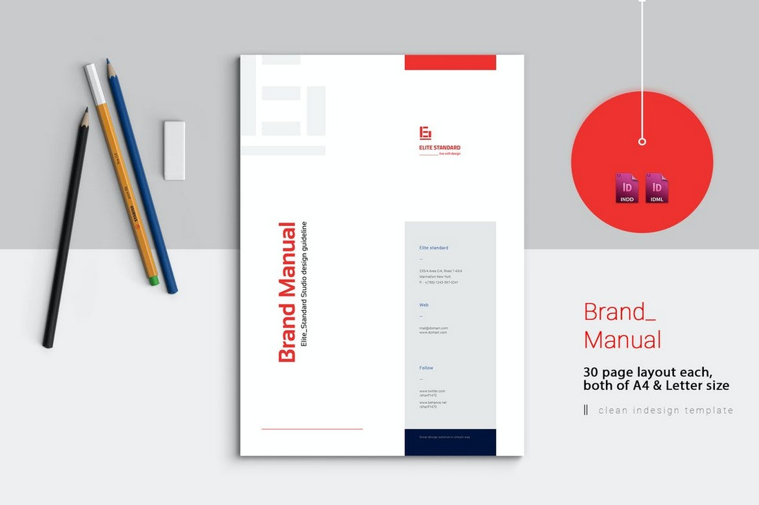 30-Page-Brand-Manual-Template 20+ Best Brand Manual & Style Guide Templates 2020 (Free + Premium) design tips