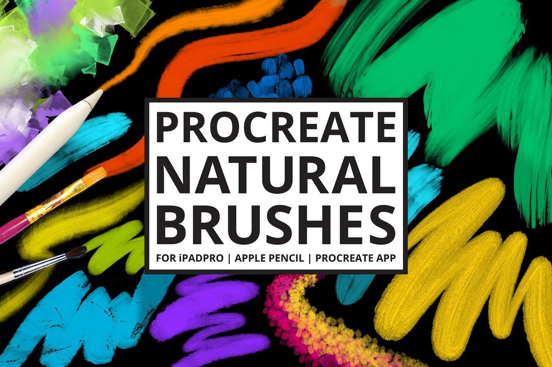30-Procreate-4-Natural-Media-Brushes 30+ Best Procreate Brushes design tips