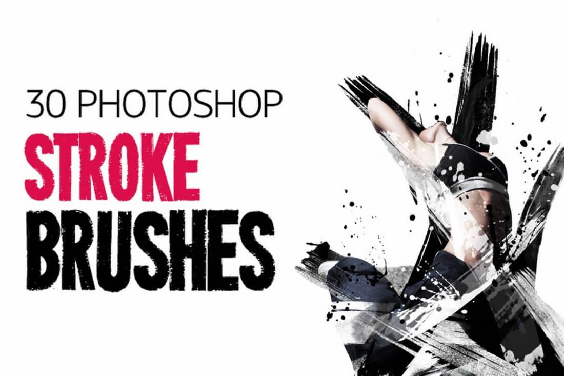 30-Stroke-Brushes 30+ Best High-Quality Photoshop & Illustrator Brushes design tips
