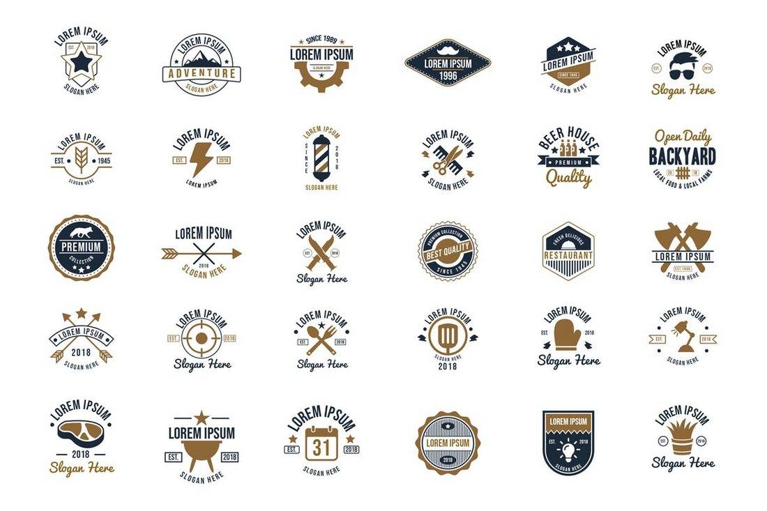 30-Vintage-Logos-Sign-Templates 20+ Best Sign Templates & Mockups design tips