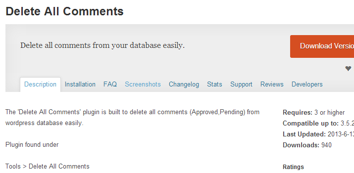 delete all comments wordpress database plugin