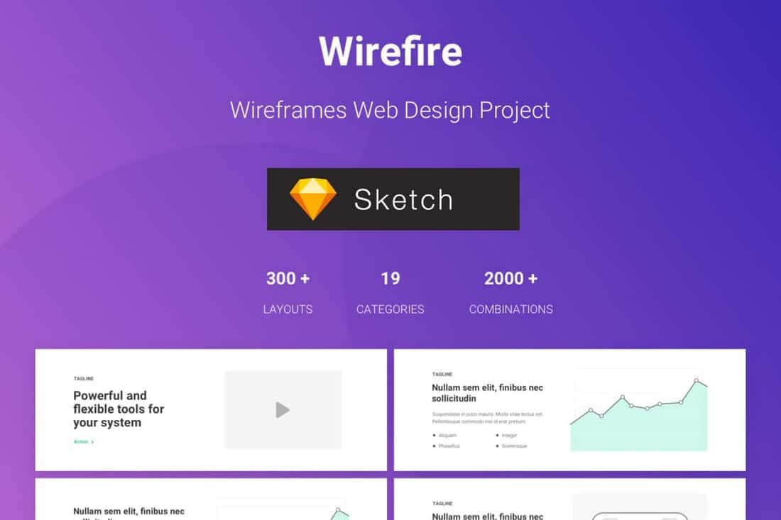 300+ Web Design Wireframe Sketch Templates