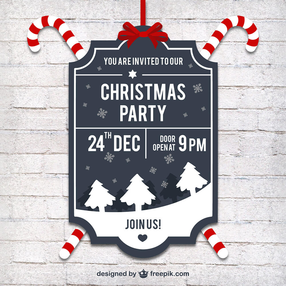 christmas mockups icons graphics resources design shack retro christmas party label 3 price