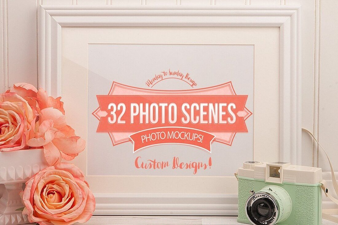 32-Photo-Frames 40+ Stunning Vintage Mockup Packs & Graphics design tips