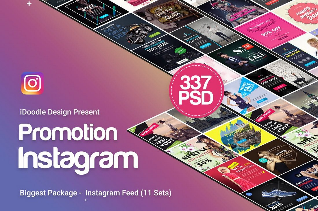 330-Instagram-Post-Templates 20+ Best Instagram Post & Story Templates 2018 design tips