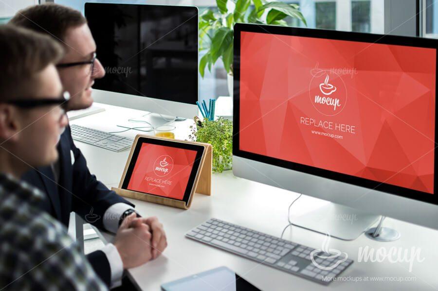 34-1 40+ iMac Mockup PSDs, Photos & Vectors design tips