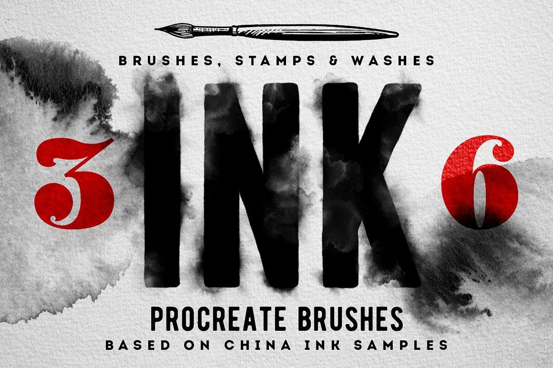 36-Procreate-Ink-brushes 30+ Best Procreate Brushes design tips