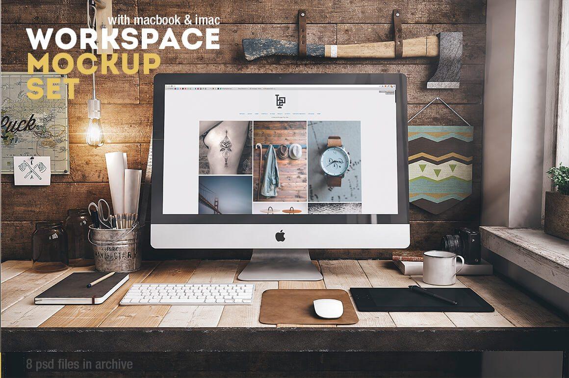 40 IMac Mockups PSDs Photos Vectors Design Shack