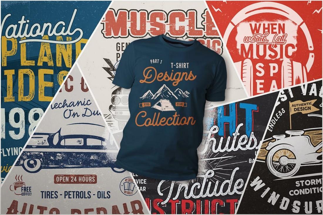 37 Modern T-Shirt Design Templates