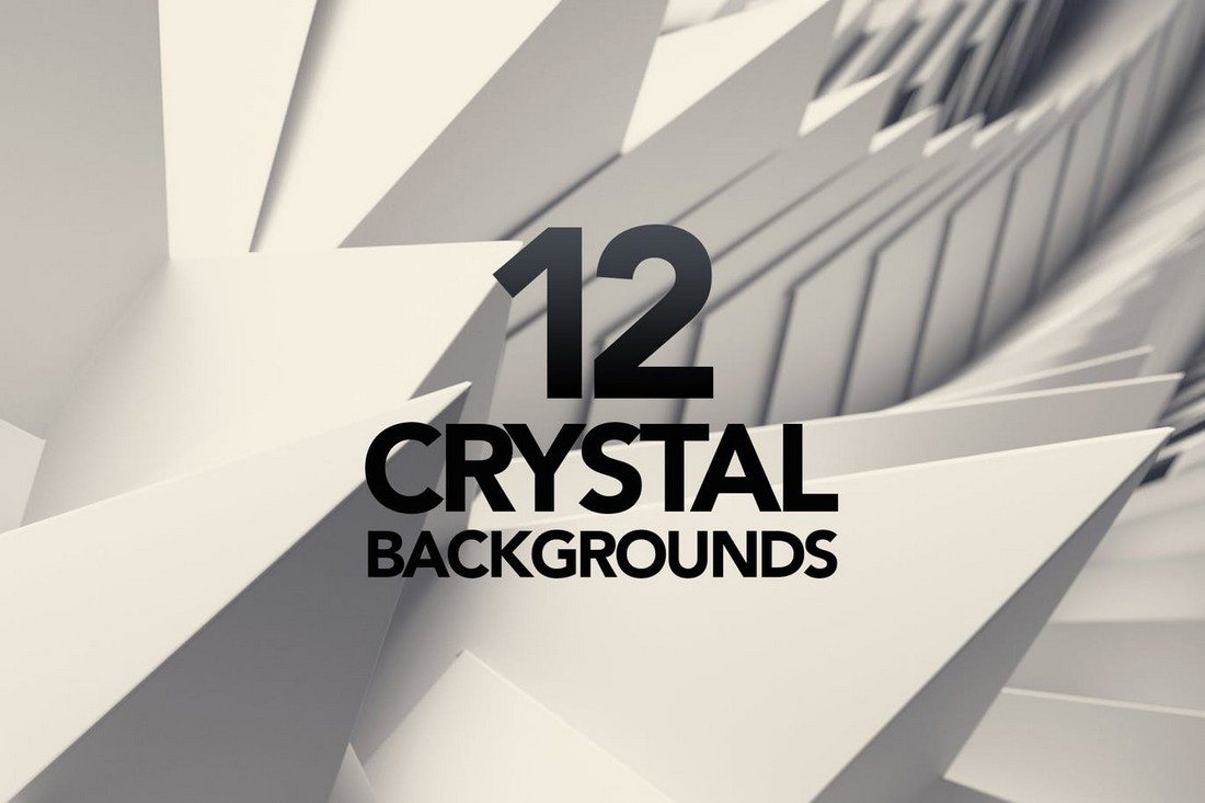 3D-Crystal-White-Triangle-Backgrounds 20+ Beautiful Geometric & Polygon Background Textures design tips