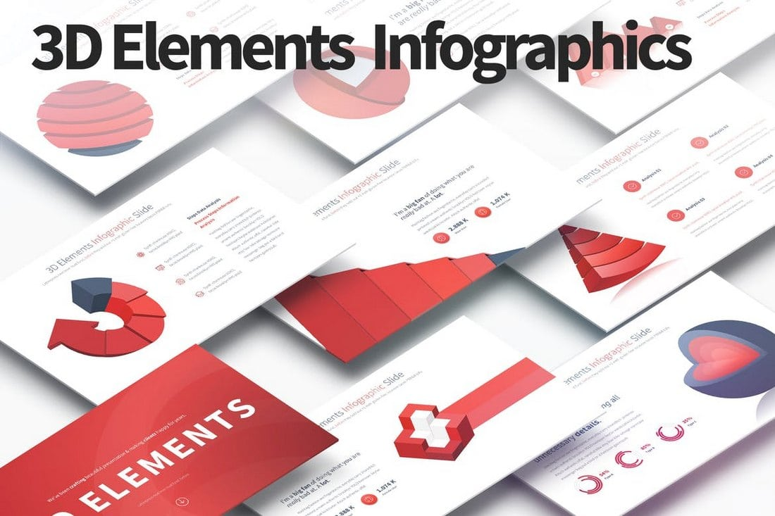 3D-Elements-PowerPoint-Infographics-Slides 40+ Best Infographic Templates (Word, PowerPoint & Illustrator) design tips