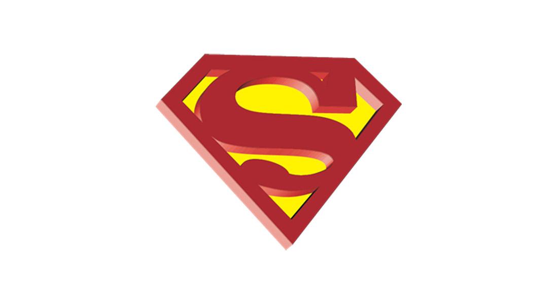 3D Superman Logo Template