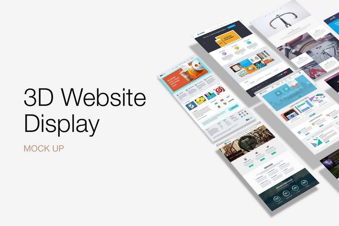 3D-Website-Display-Mockup 20+ Best Website PSD Perspective Mockups design tips