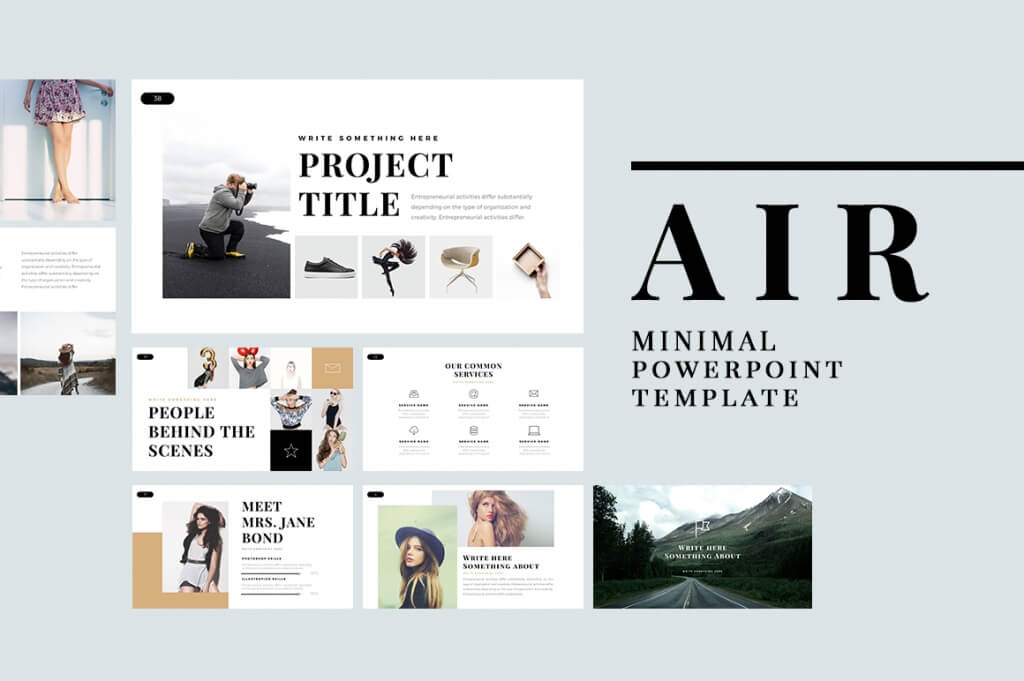 25 best minimal powerpoint templates 2018 design shack air minimal powerpoint template toneelgroepblik