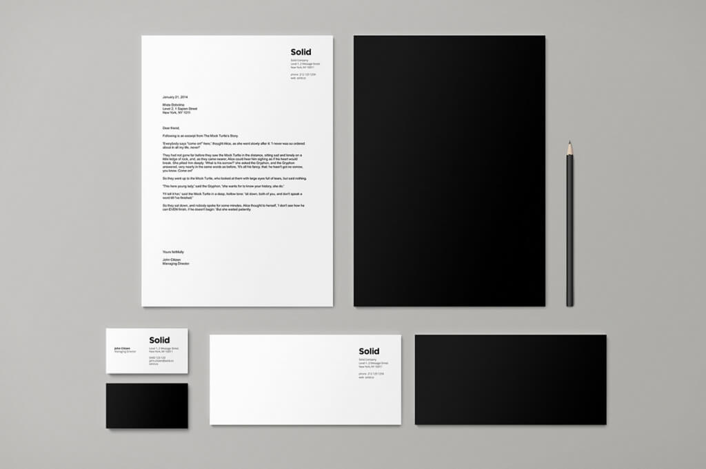 stationery templates