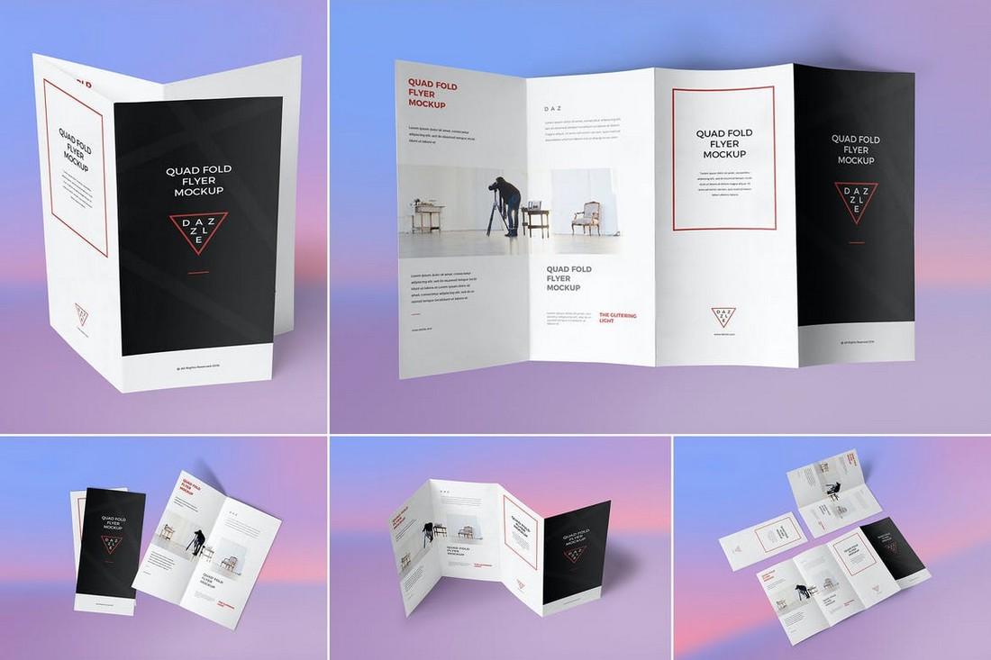4-Fold Brochure Mockup Template