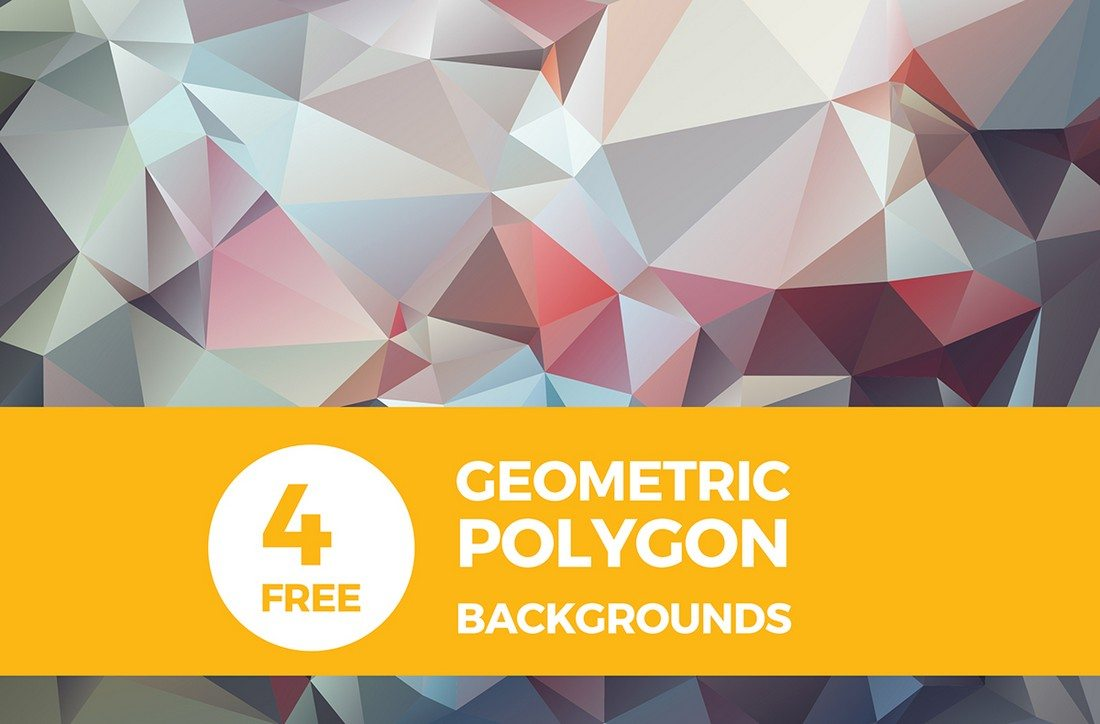 4 Free High Res Geometric Polygon Backgrounds