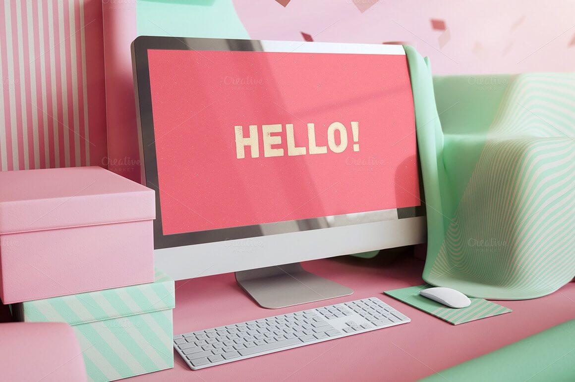 40-1 40+ iMac Mockup PSDs, Photos & Vectors design tips