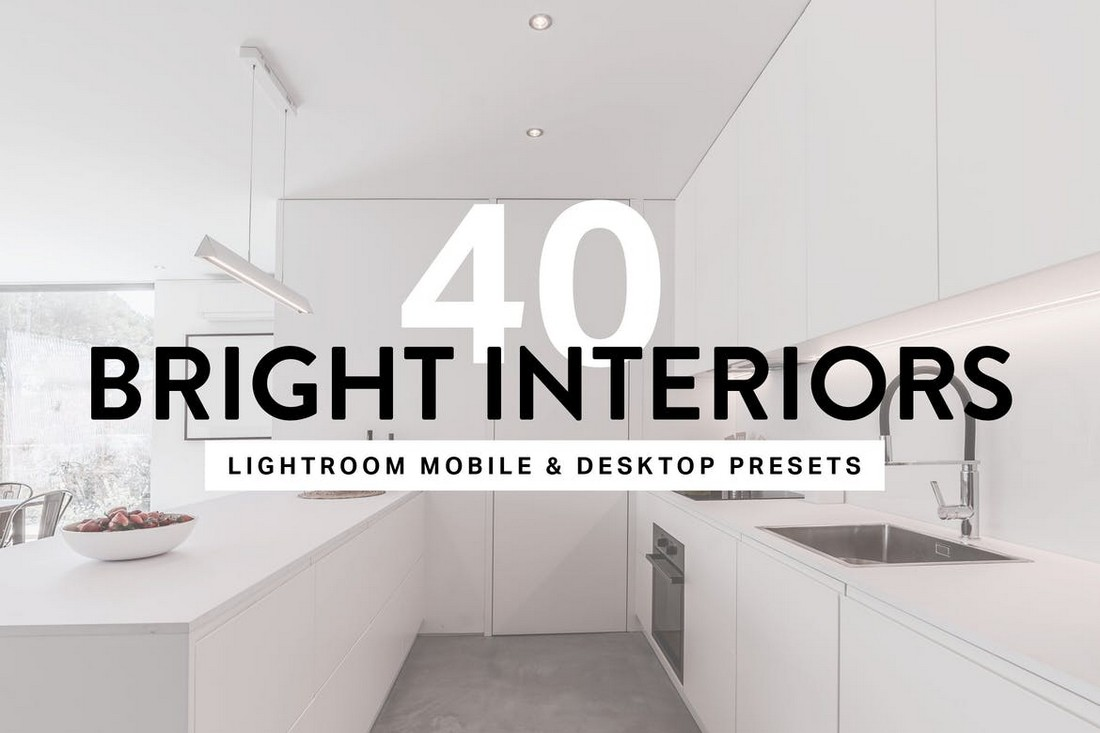 40 Bright Interior Lightroom Preset