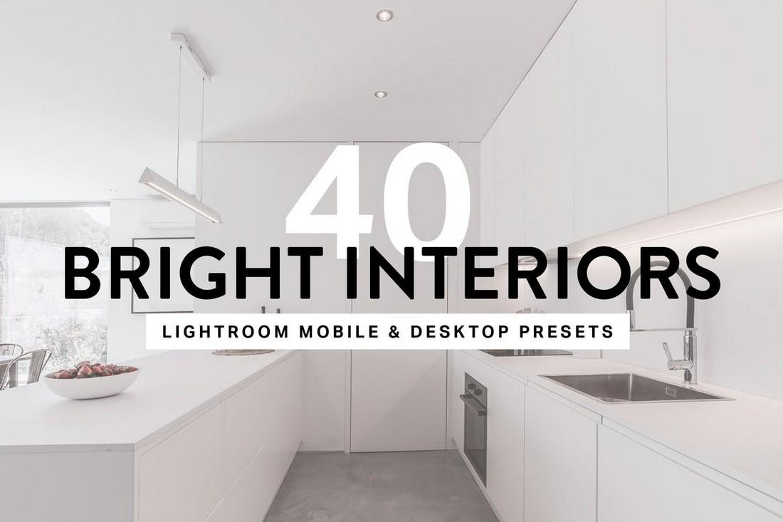 40 Bright Interior Lightroom Presets