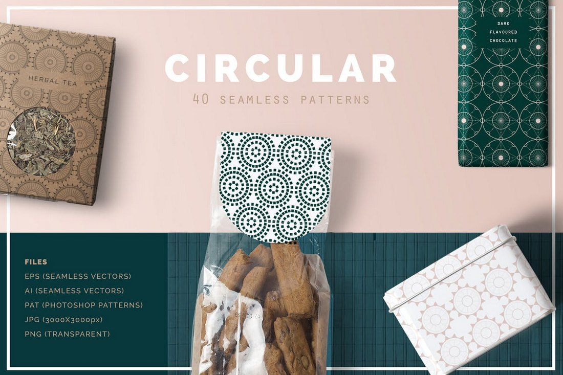40-Circular-Patterns-Set 50+ Best Free Photoshop Patterns 2021 design tips