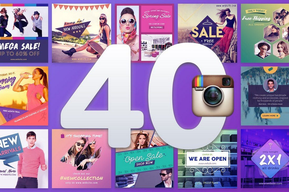 40-Instagram-Banners 40+ Best Social Media Kit Templates & Graphics design tips  Inspiration|facebook|social media|twitter