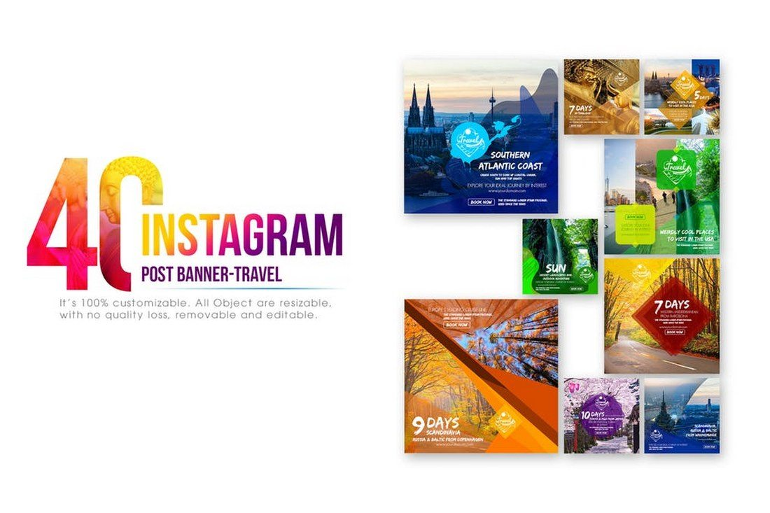 40-Instagram-Travel-Banners 30+ Best Instagram Templates & Banners design tips