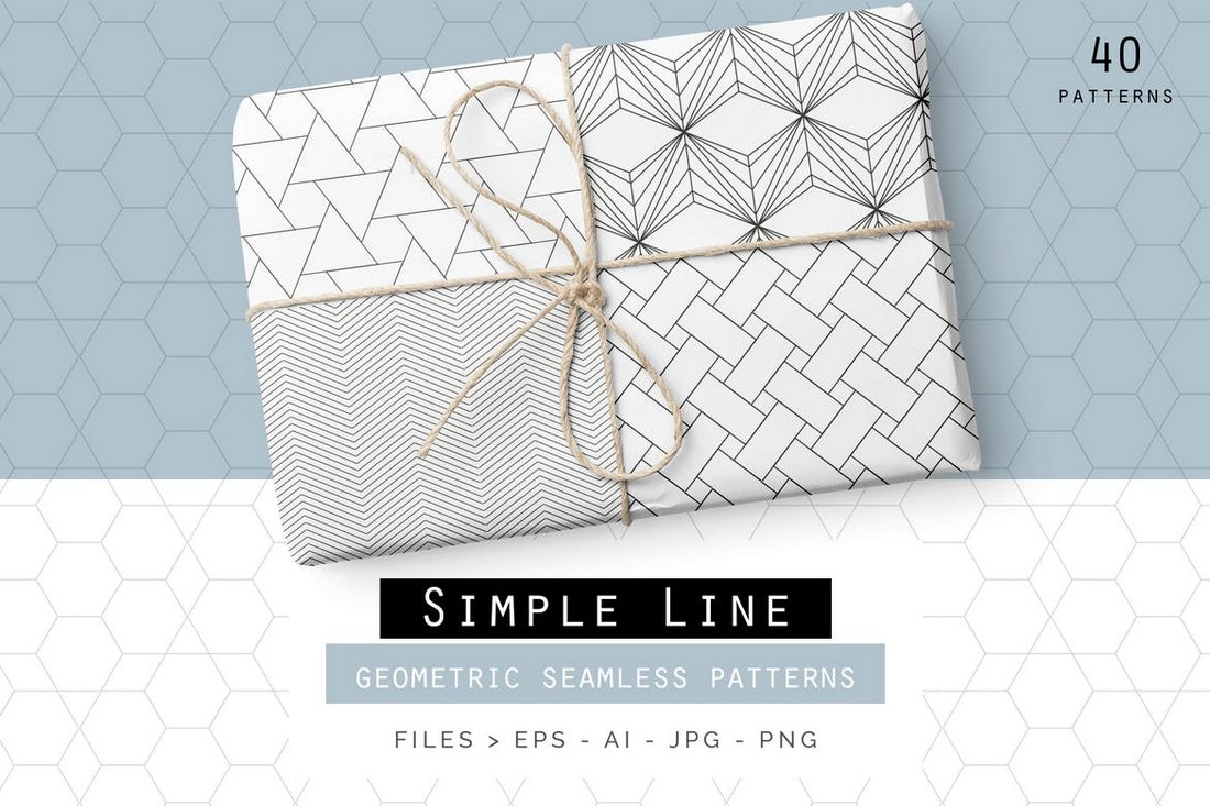 40 Simple Line Geometric Patterns