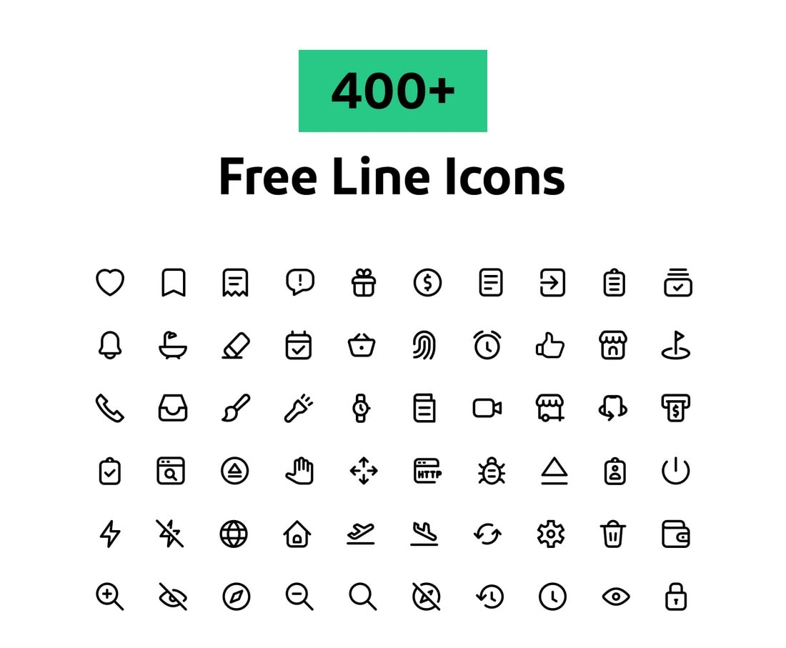 400+ Free Line Icons for Instagram